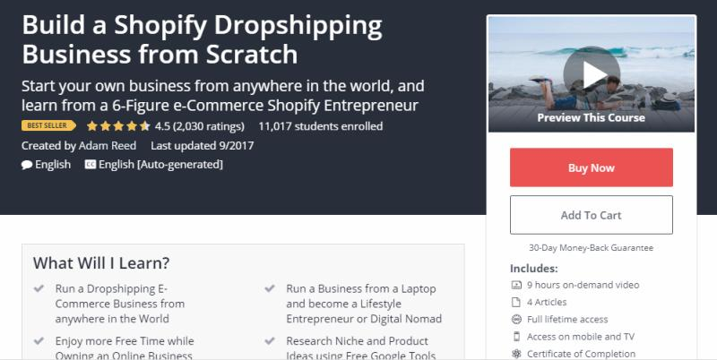 Build a Shopify Dropshipping Business from Scratch Review
