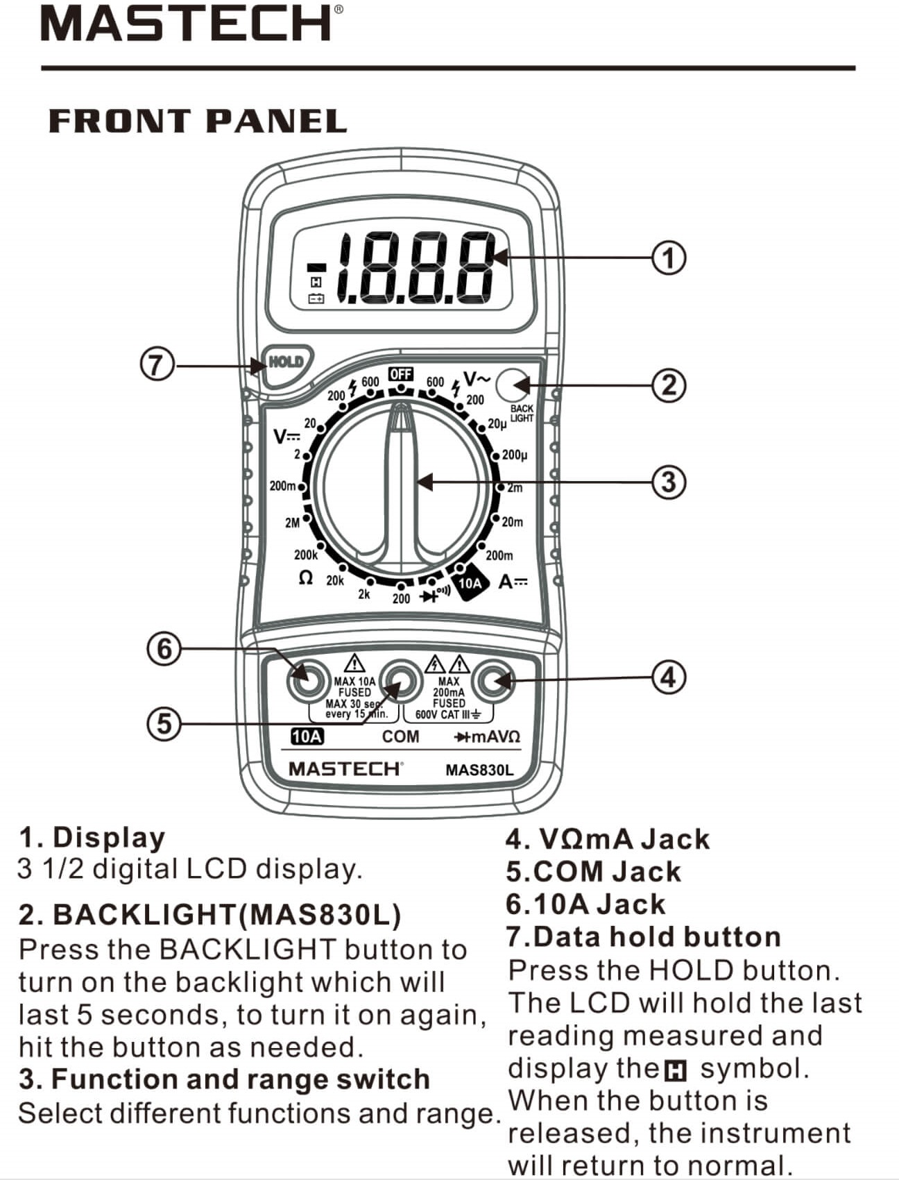 Buy Mastech MAS830L Digital Multimeter at Best Price in India
