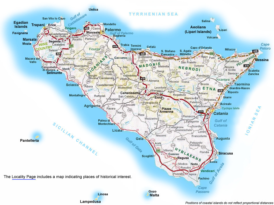 map of sicily sicily