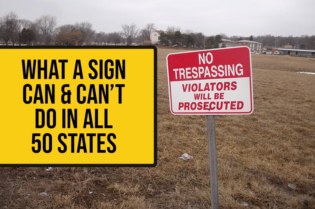 no trespassing signs laws