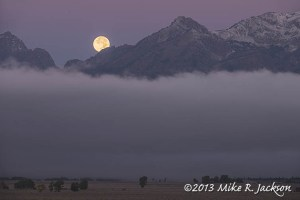 Moon Set over Teton Range Sept. 19