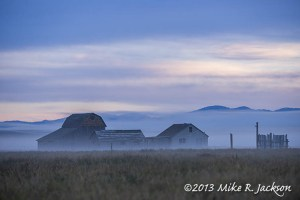 Murphy Barn in Fog Sept 13
