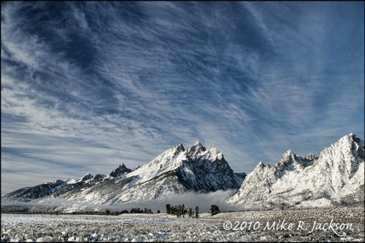 Teton Range in Winter