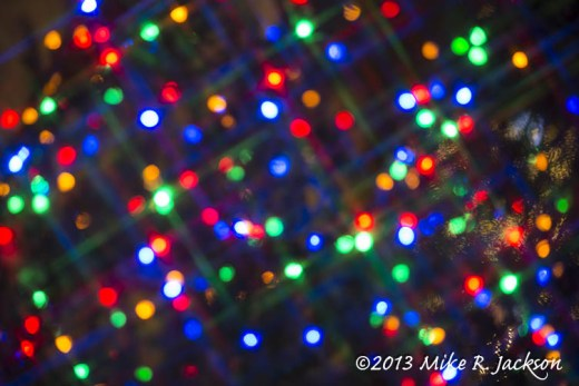 Christmas Colored Light Blured Dec15