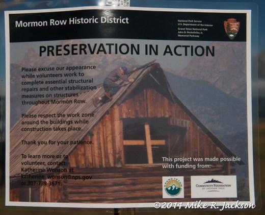 Preservation Sign