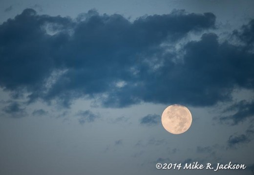 Moon With Morning Clouds