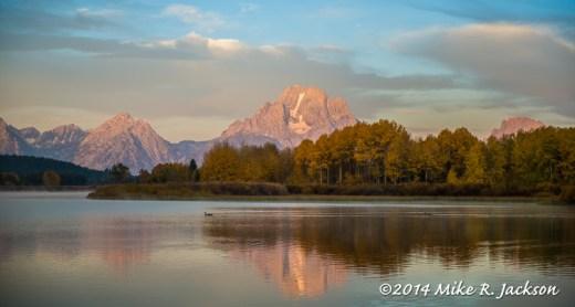Mt. Moran With Light