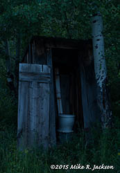 Outhouse with No Light