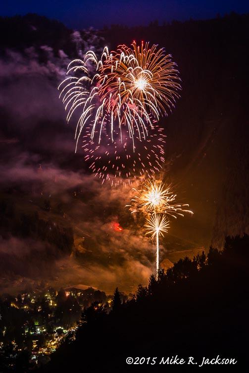 Jackson Hole Fireworks at Snow King Mountain