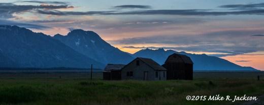 Sunset over Mt. Moran