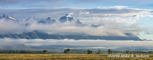 Tetons, Fog, and Clouds