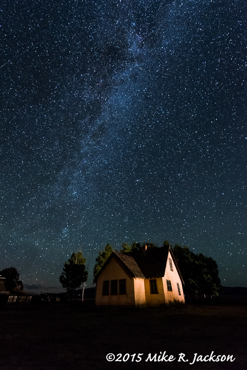 Milky Way Over the Pink House