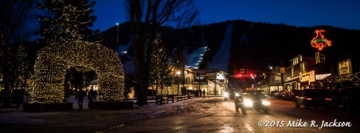 Night Time In Jackson Hole