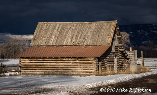 Lucas Barn with Dark Clouds