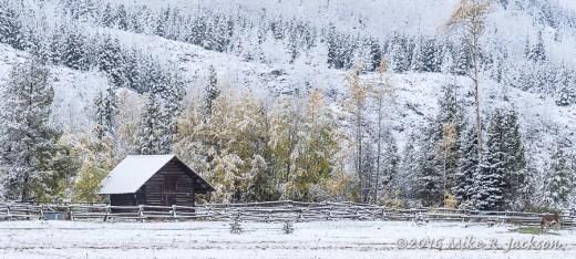 Cabin at Taggart Lake Trailhead