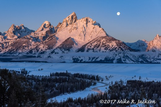 Moon Set Over Snake River Overlook
