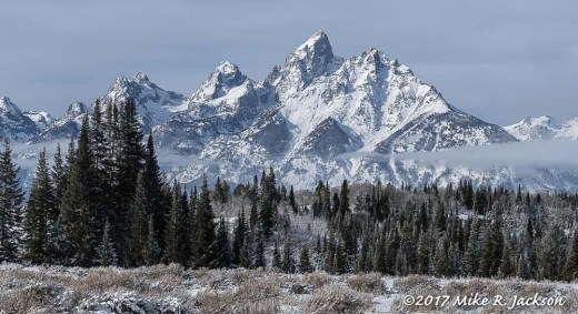 Teton Range in Mid-Morning