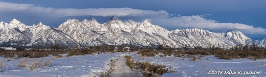 Winter in the Tetons Pano