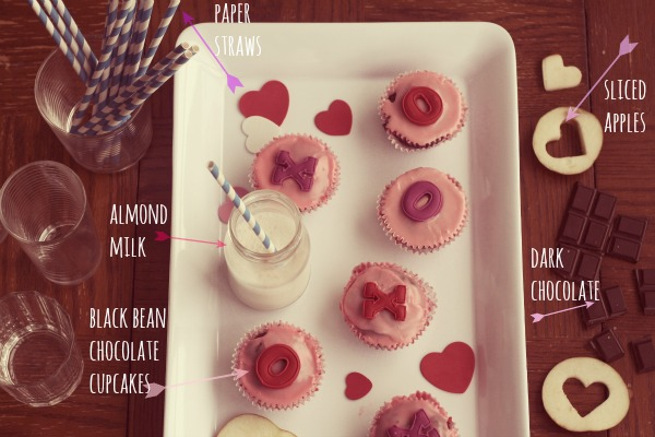 A Valentine's Day Party with Gluten-Free Black Bean Chocolate Cupcakes