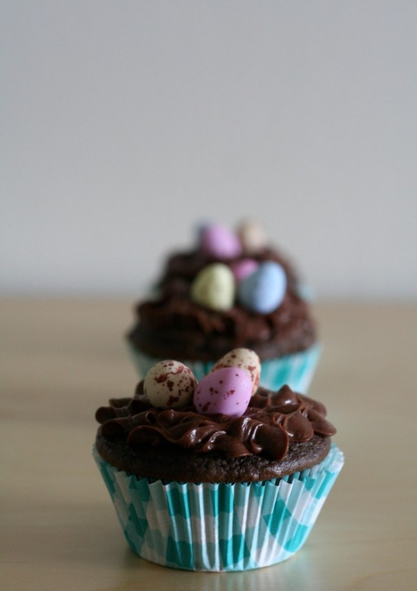 Gluten-Free Chocolate Easter Egg Cupcakes
