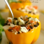 Rice & Vegetable Stuffed Bell Peppers