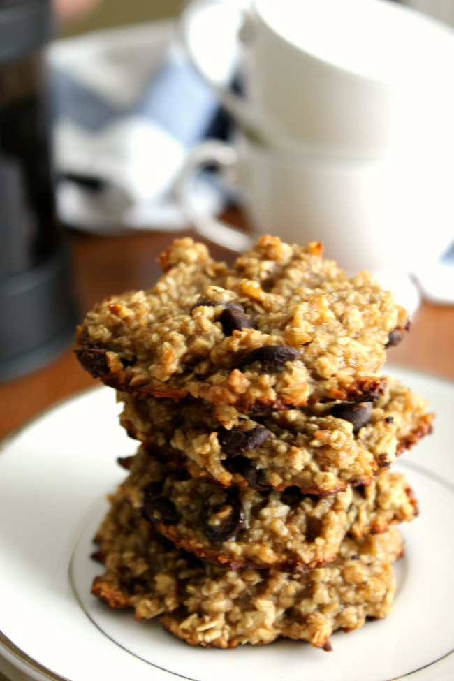 Rolled Oats Banana Chocolate Chip Cookies