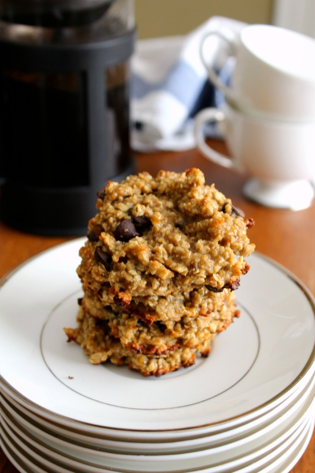 Oatmeal Banana Chocolate Chip Healthy Cookies
