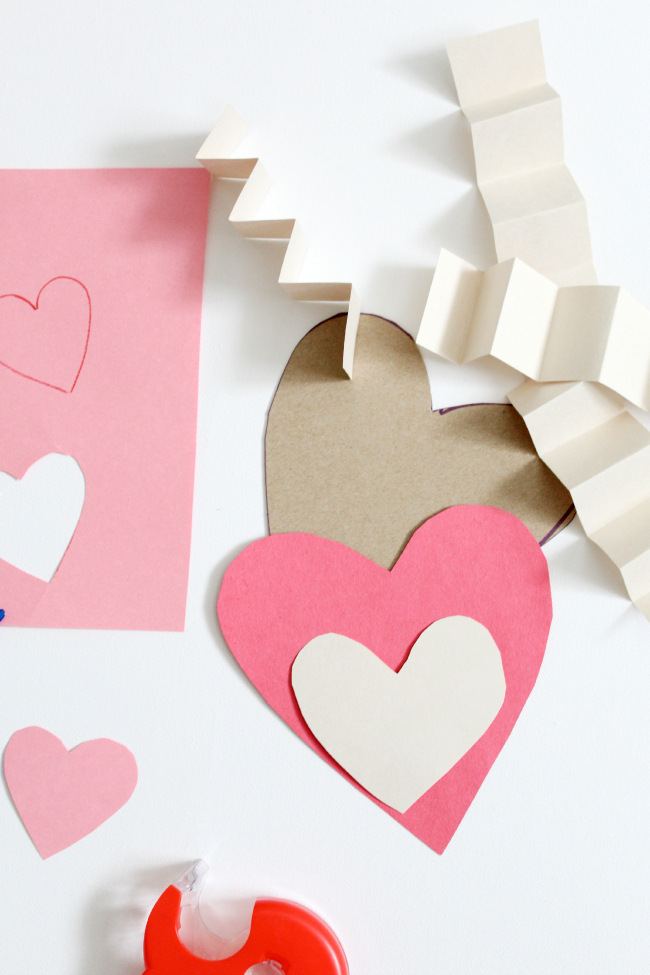 Valentine Hug Cards for preschoolers - DIY