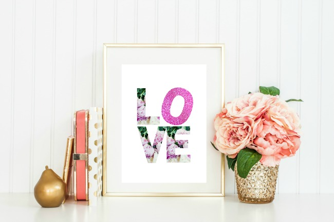 LOVE Blooms Print Styled