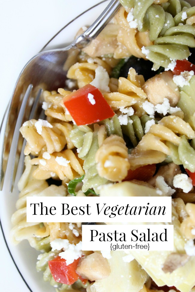 The Best Vegetarian Pasta Salad  The Best of this Life #glutenfree