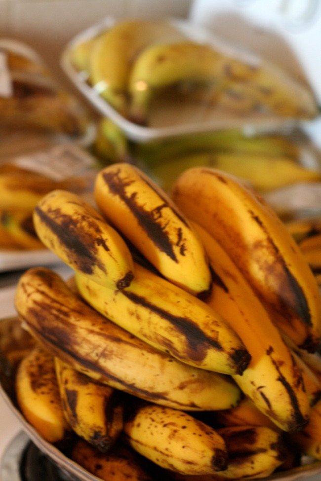 Ripe Bananas to be frozen