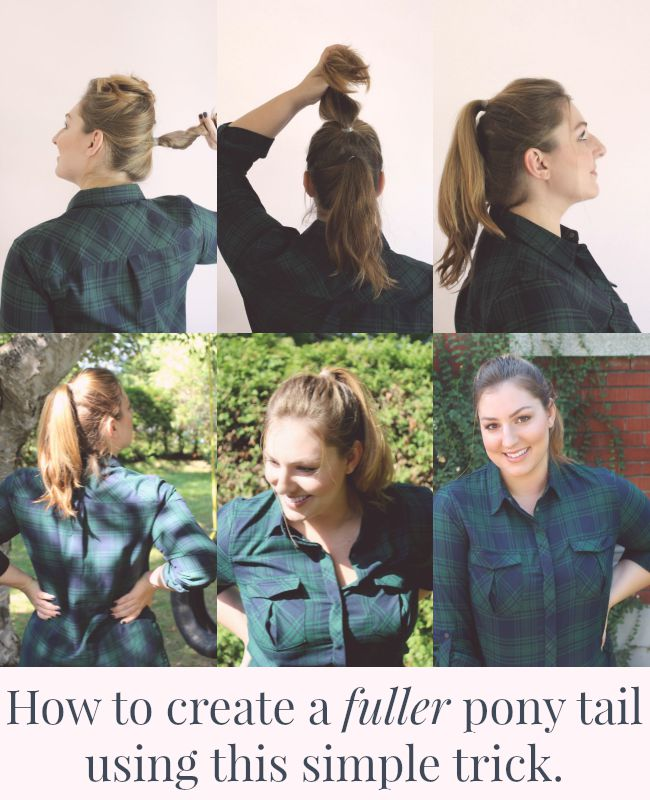 How to create a fuller pony tail using this simple trick