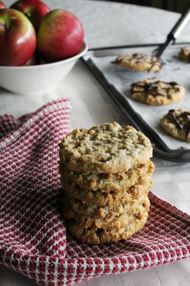 Gluten-Free Oatmeal Applesauce Cookies with Toffee Bits
