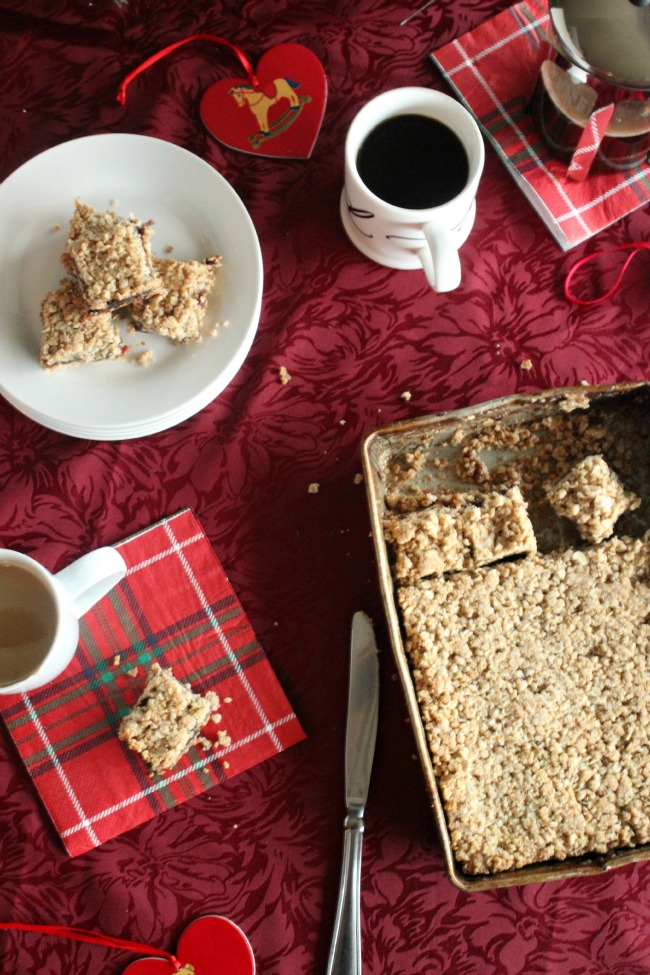 Making Date Squares A Holiday Memory & Tradition with Starbucks