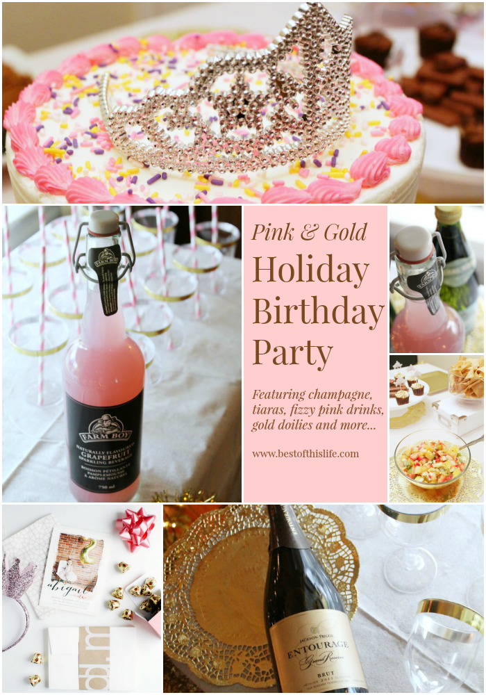 Pink & Gold Holiday Birthday Party for a Girl