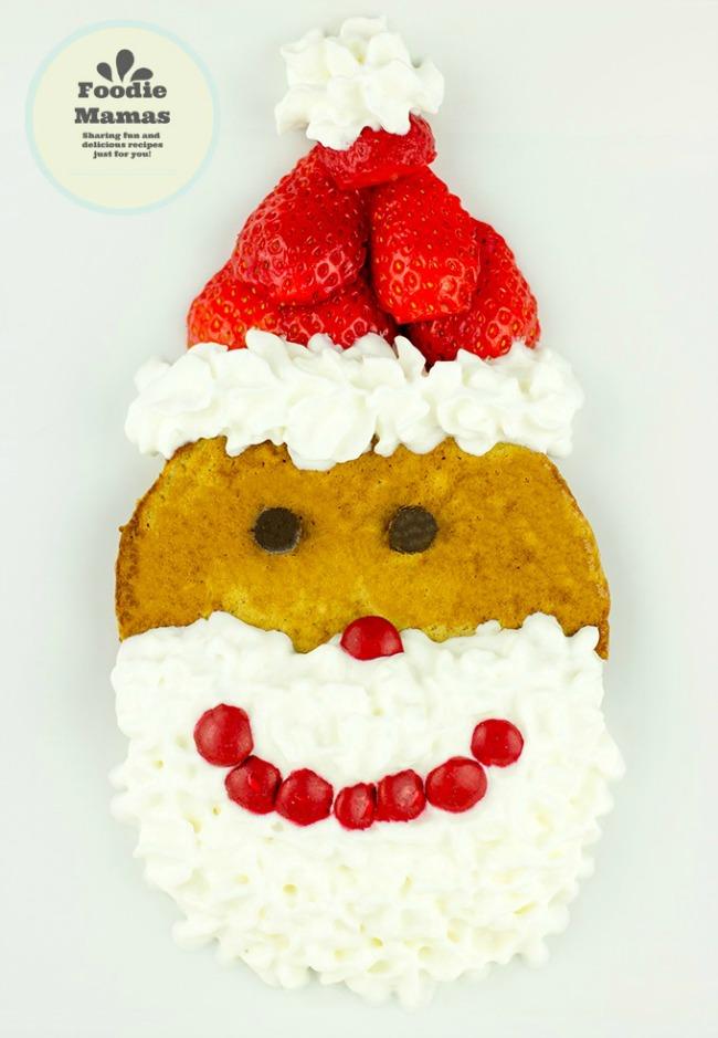 Strawberry Gingerbread Santa Pancakes