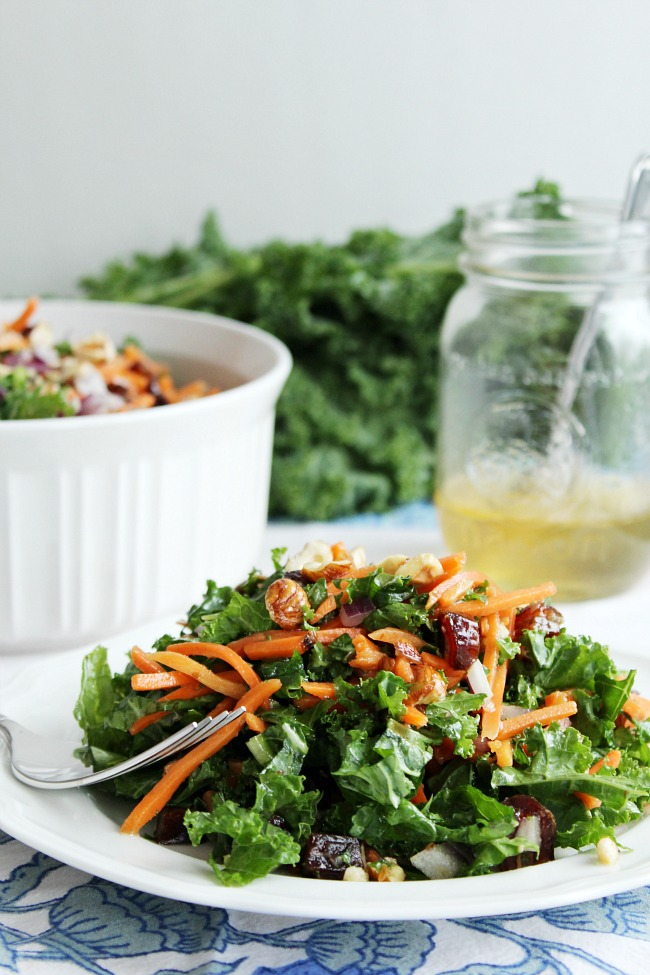 Winter Kale & Hazelnut Salad