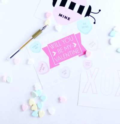 4 Pinktacular Free Printable Valentine's Day Cards