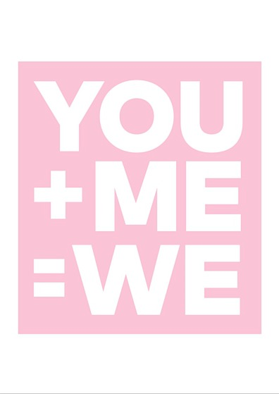 You + Me = WE Valentine's Day Printable Card