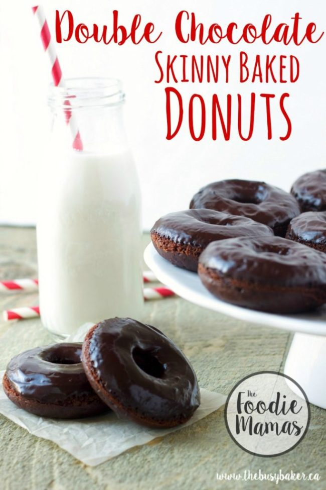 double-chocolate-skinny-baked-donuts-title