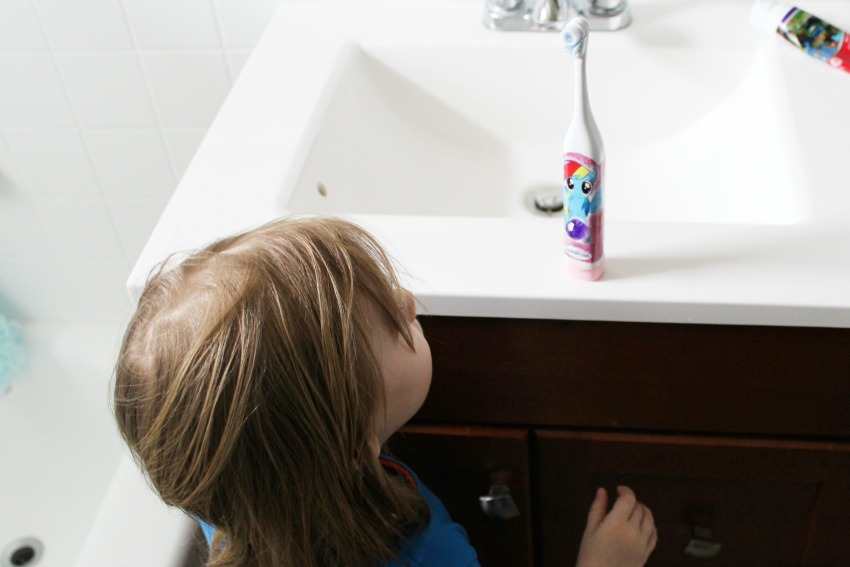 How to get your toddler to brush their teeth