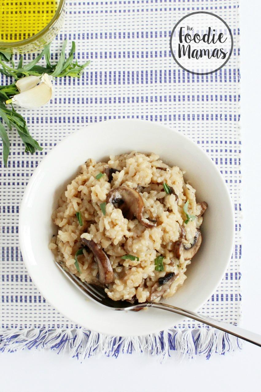 Foodie Mamas Vegan Mushroom Risotto 850x1275