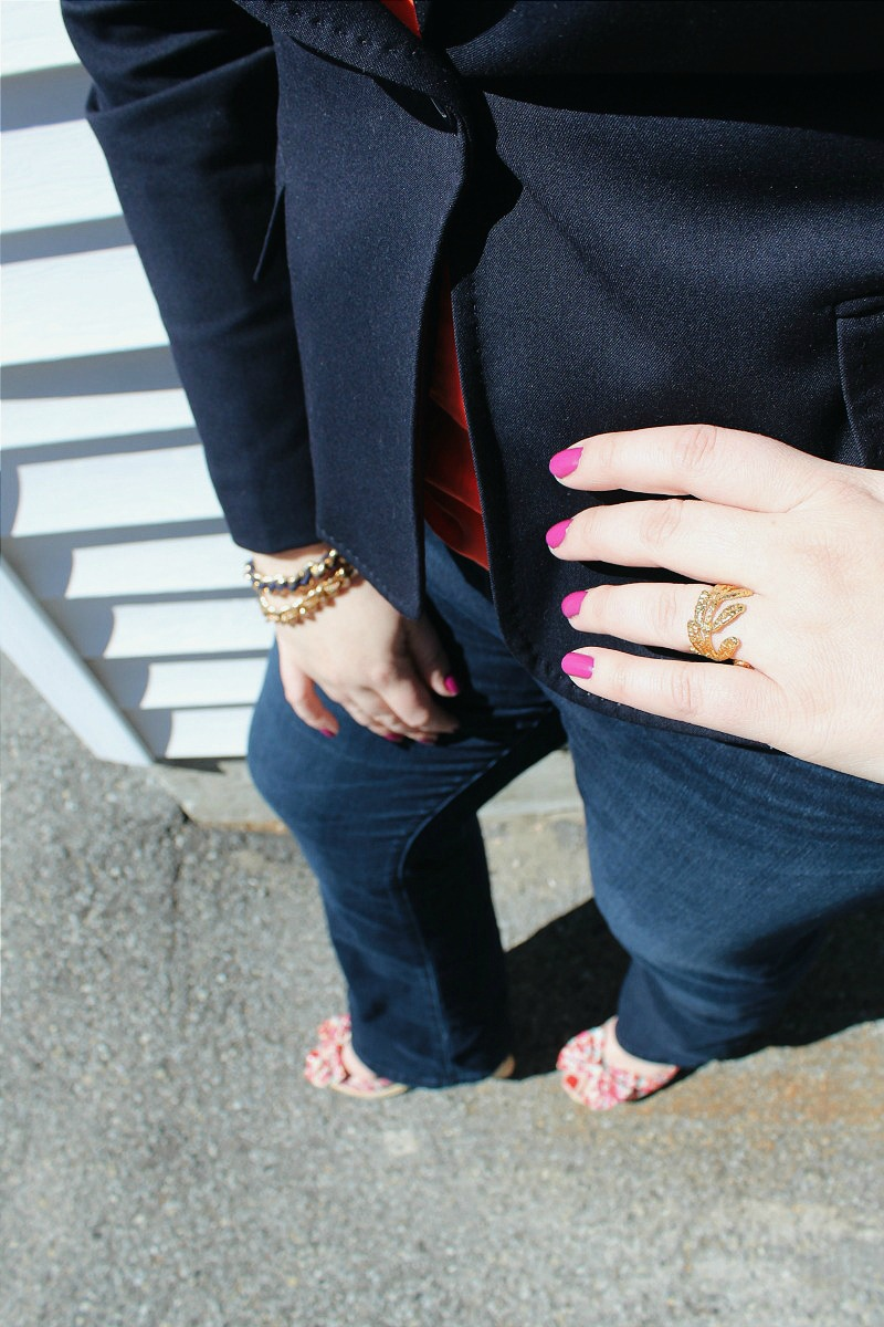 Casual Friday with pop of colour, bestofthislife.com