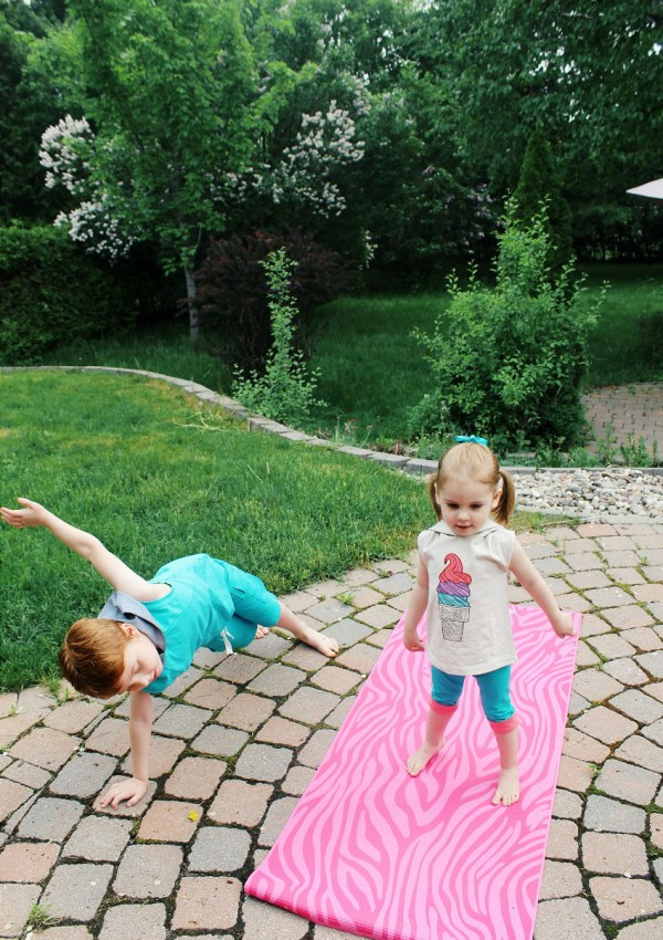 The Benefits of Stretching and Yoga for Kids + Gaiam Giveaway!