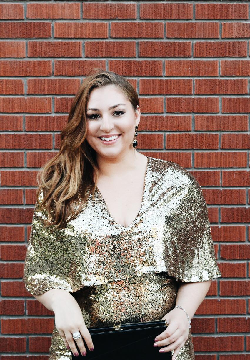 Glam Makeup for Gold Sequin Dress bestofthislife.com