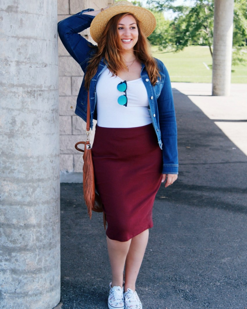 How to wear the pencil skirt this fall - two ways
