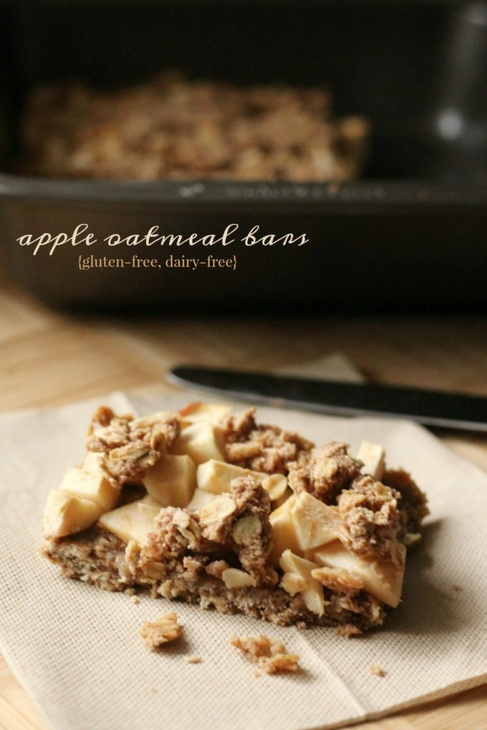 Apple Oatmeal Bars (gluten-free, dairy-free, vegan)