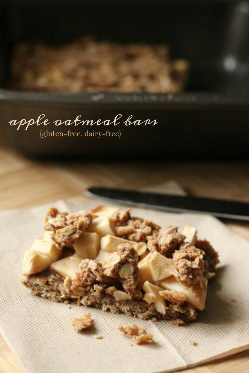 Healthy Gluten-Free Apple Oatmeal Bars Perfect For Breakfast