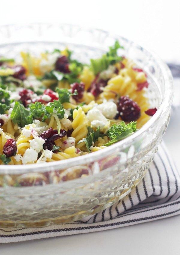 Springtime Pasta Salad with Radicchio + Goat's Cheese