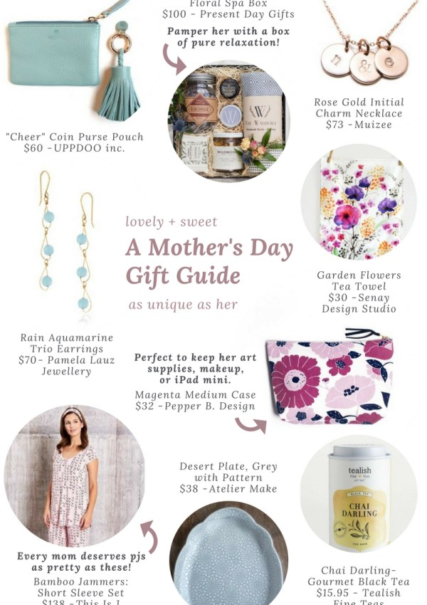 A Mother's Day Gift Guide as Unique as Her with One of a Kind Online Shop + $100 Giveaway!
